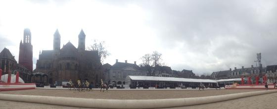 Horseball in the Vrijthof Square (City Square) Maastricht
